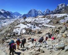 What is the Daily Trekking Schedule on EBC?
