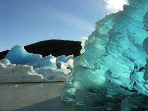 Ice Berg on Grey Lake